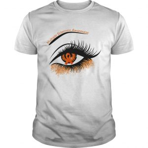 Cancer multiple sclerosis awareness in the eye shirt