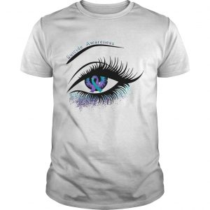 Cancer suicide awareness in the eye shirt