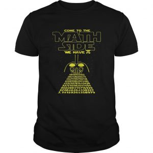 Darth Vader Come To The Math Size Pi Day Shirt