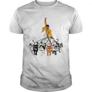 Freddie Mercury With His Cat Funny Gift Shirt