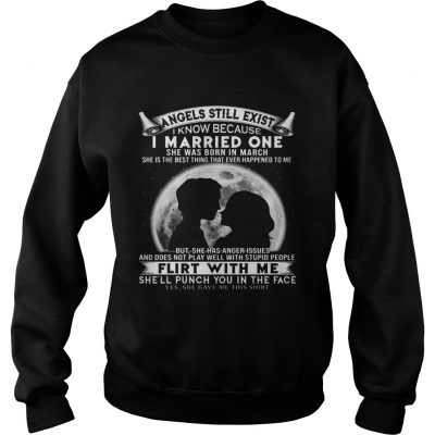 I Married One Angle Born In March Birthday Gift Sweater