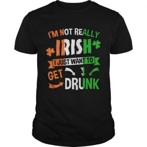 Im not really Irish I just want to drunk shirt