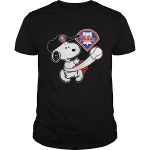 Snoopy Play Baseball T-Shirt For Fan Phillies Teams