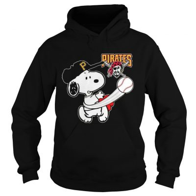 Snoopy Play Baseball TShirt For Fan Pirates Team Hoodie