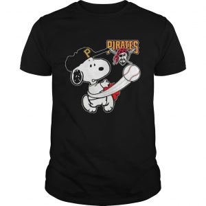 Snoopy Play Baseball T-Shirt For Fan Pirates Team