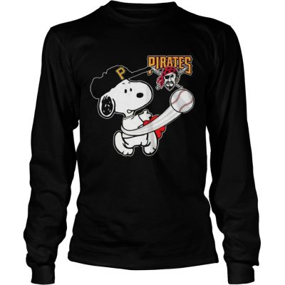 Snoopy Play Baseball TShirt For Fan Pirates Team Longsleeve Tee