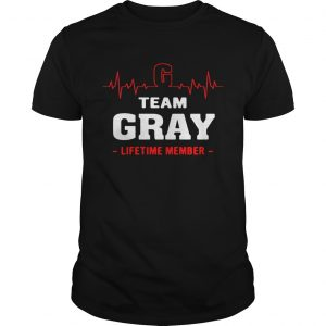 Team Gray lifetime member shirt