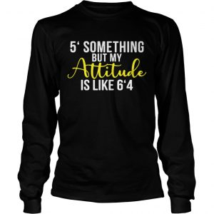 5 something but my attitude is like 64 longsleeve tee