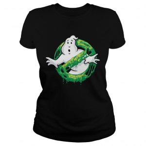 Ghostbusters Classic Slim Ghost Logo Graphic Funny Gift ladies tee
