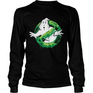 Ghostbusters Classic Slim Ghost Logo Graphic Funny Gift longsleeve tee