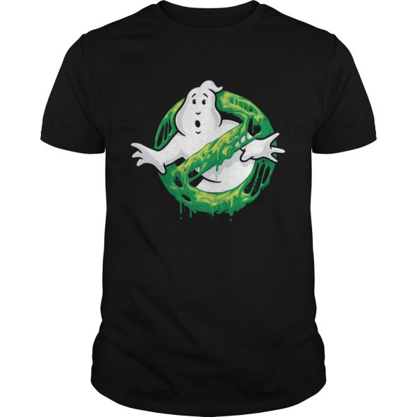 Ghostbusters Classic Slim Ghost Logo Graphic Funny Gift T-shirt