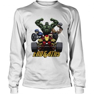 Gym Hulk Captain America Thor Iron Man Endgains longsleeve tee