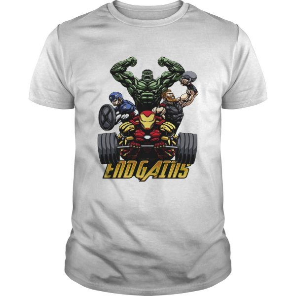Gym Hulk Captain America Thor Iron Man Endgains shirt