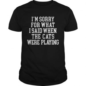 I'm sorry for what I said when the cats were playing shirt