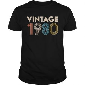 Official vintage 1980 tshirt
