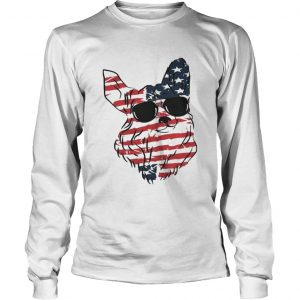 4th Of July Corgi American Flag longsleeve tee
