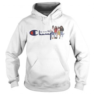 African American girl we are the champions hoodie