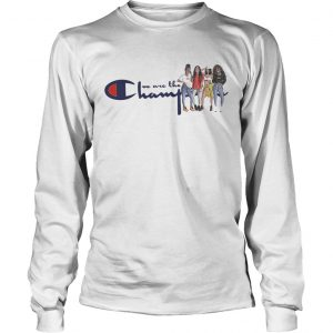 African American girl we are the champions longsleeve tee
