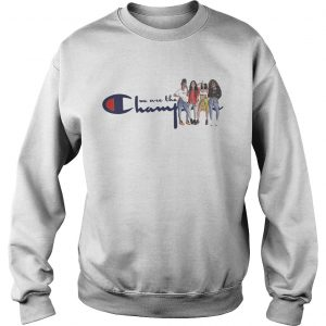African American girl we are the champions sweatshirt