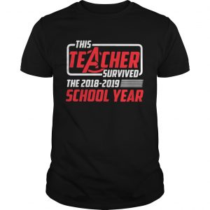 Avengers this teacher survived the 2018 2019 school year unisex