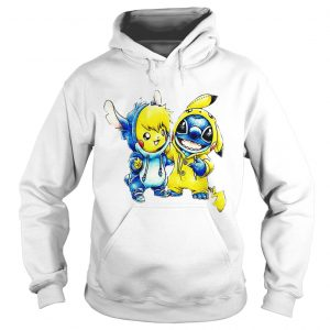 Baby Stitch and Pikachu hoodie