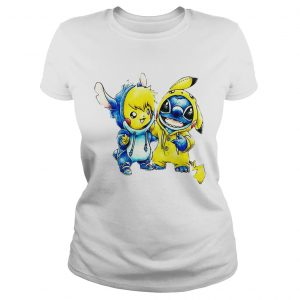 Baby Stitch and Pikachu ladies tee