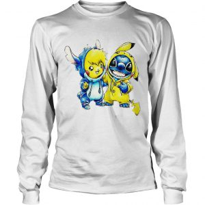 Baby Stitch and Pikachu longsleeve tee