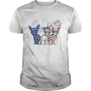 Chihuahua blue white and red American flag  Unisex