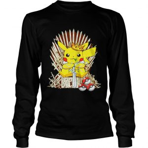 Game of Thrones Pikachu King of Iron throne longsleeve tee