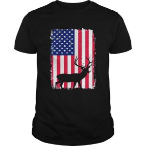 Independence Day Hunting American Flag unisex