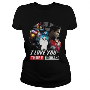 Iron Man Tony Stark I love you three thousand Avengers Endgame ladies tee