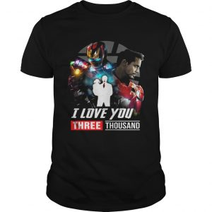 Iron Man Tony Stark I love you three thousand Avengers Endgame unisex