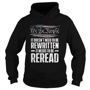 Me the people it doesnt need to be rewritten it needs to be reread hoodie