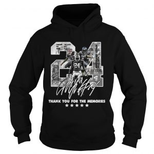 Official 24 Marshawn Lynch thank you for the memories hoodie