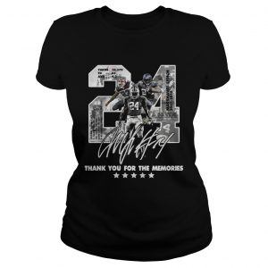 Official 24 Marshawn Lynch thank you for the memories ladies tee