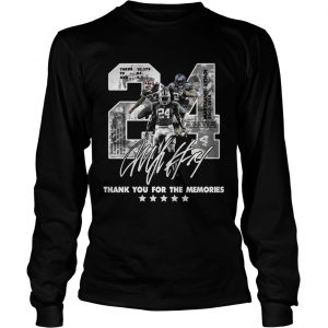 Official 24 Marshawn Lynch thank you for the memories longsleeve tee