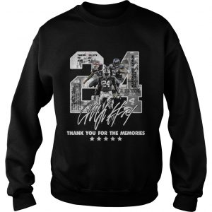 Official 24 Marshawn Lynch thank you for the memories sweatshirt