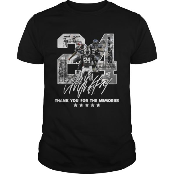 Official 24 Marshawn Lynch thank you for the memories shirt