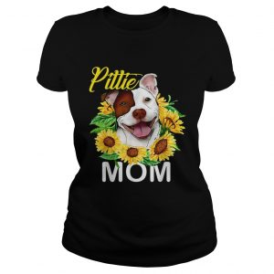 Pillie staffordshire Mom sunflowers ladies tee