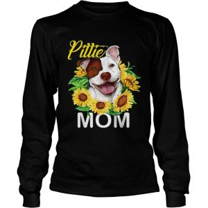 Pillie staffordshire Mom sunflowers longsleeve tee