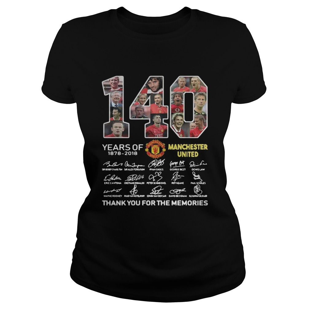 140 Years of Manchester United 1878 2018 signature thank you for the memories  Classic Ladies