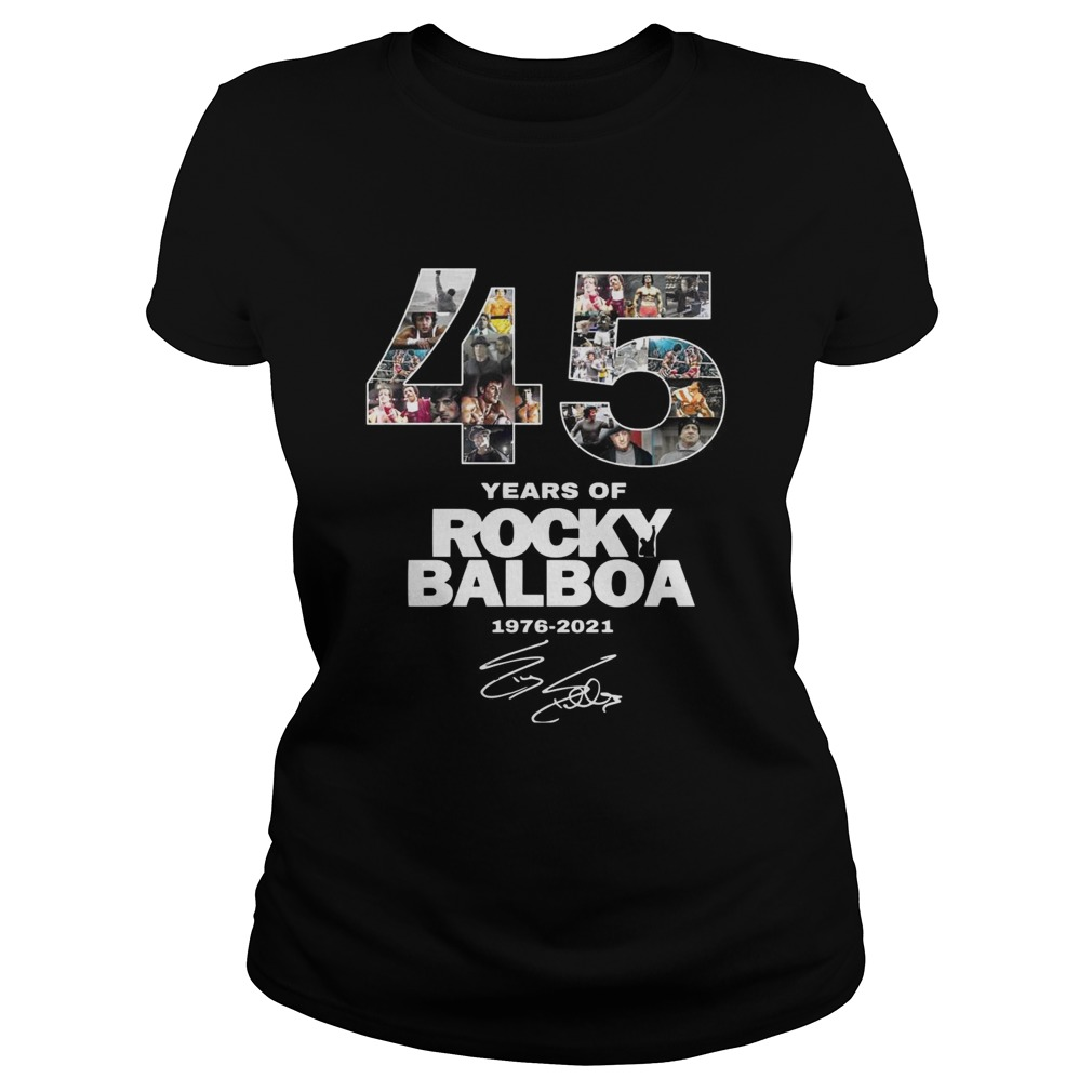 45 Years Of Rocky Balboa Signature  Classic Ladies