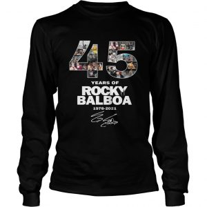 45 Years Of Rocky Balboa Signature  LongSleeve