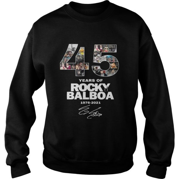 45 Years Of Rocky Balboa Signature  Sweatshirt