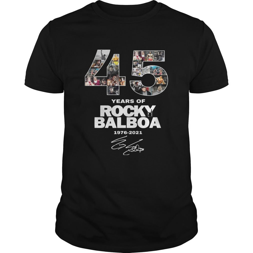 45 Years Of Rocky Balboa Signature  Unisex
