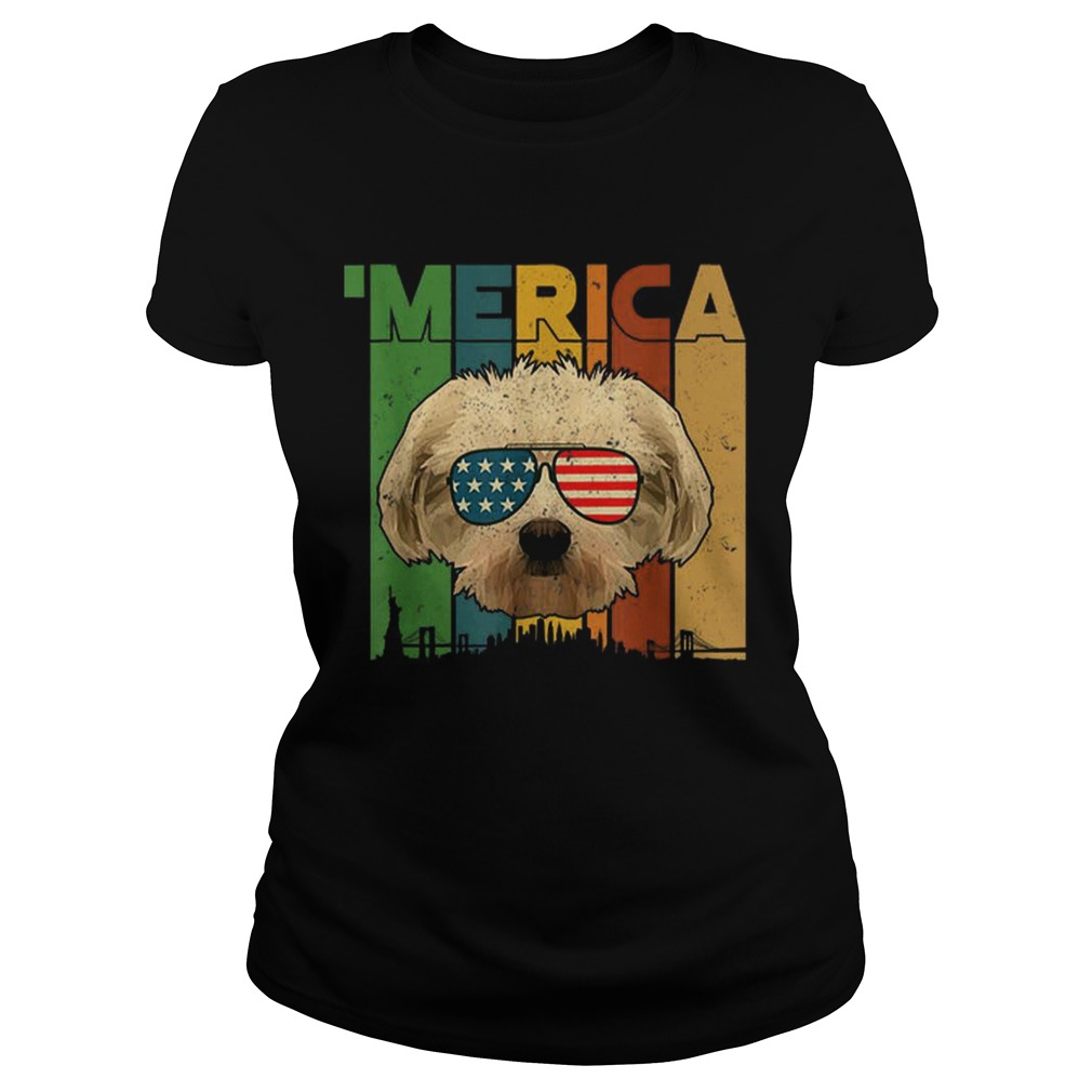 4th Of July Gifts Patriotic Maltese merica  Classic Ladies