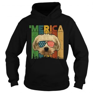 4th Of July Gifts Patriotic Maltese merica  Hoodie