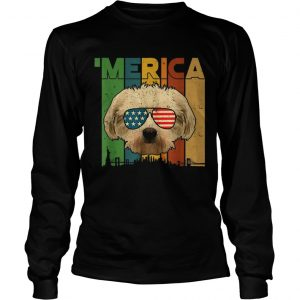 4th Of July Gifts Patriotic Maltese merica  LongSleeve