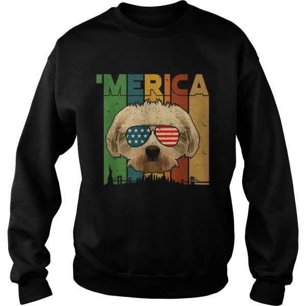 4th Of July Gifts Patriotic Maltese merica  Sweatshirt