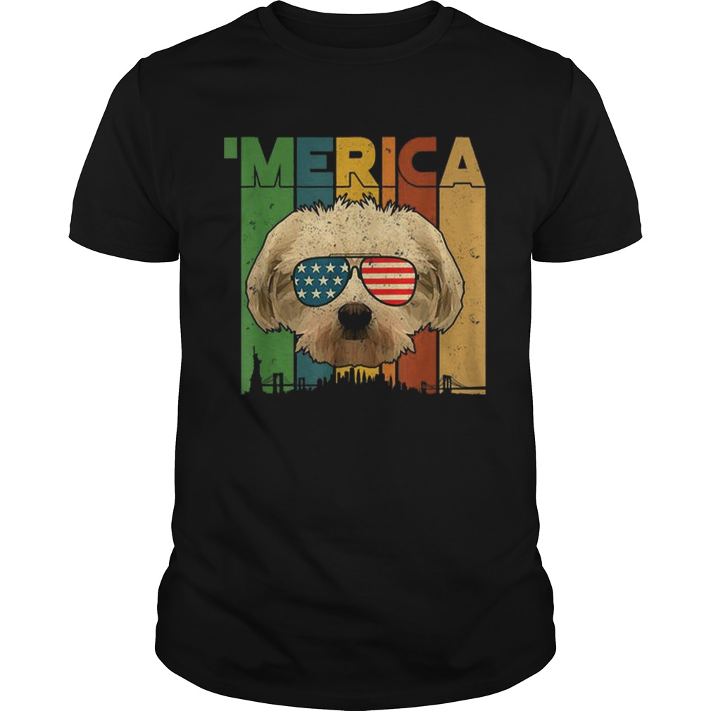 4th Of July Gifts Patriotic Maltese merica  Unisex